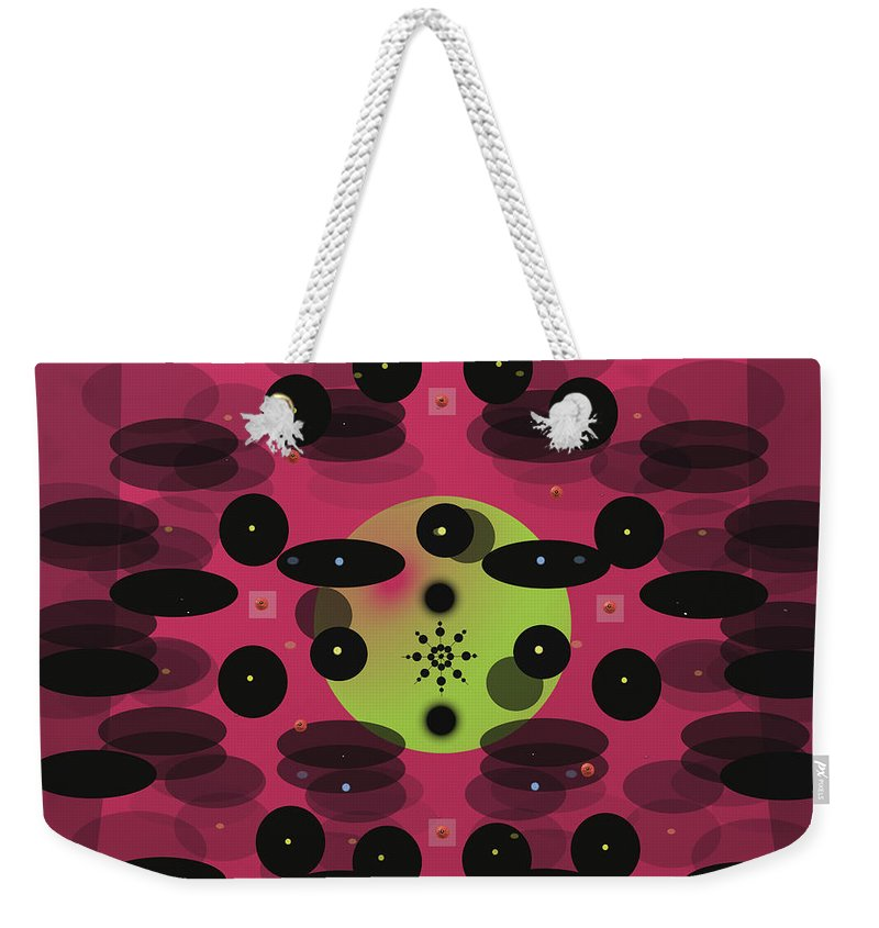 Abstract Weekender Tote Bag featuring the digital art In Perspective by SC Heffner