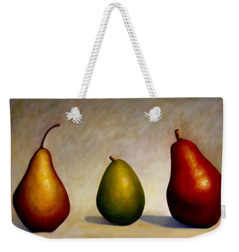 Still Life Weekender Tote Bag featuring the painting In Repair by Shannon Grissom