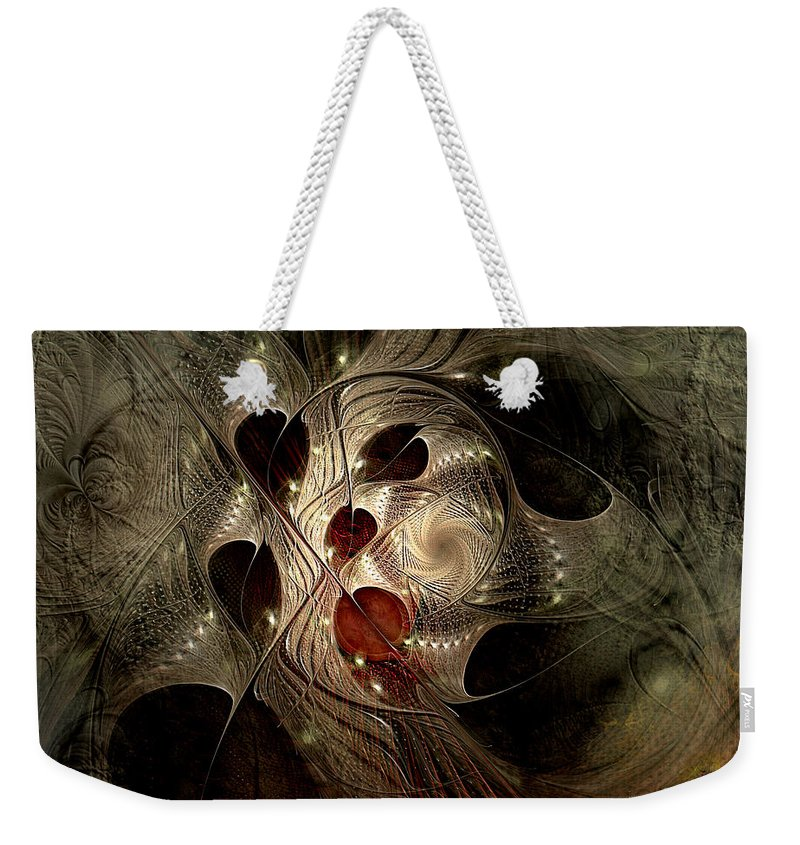 Abstract Weekender Tote Bag featuring the digital art In Search Of The Lost Chord by Casey Kotas