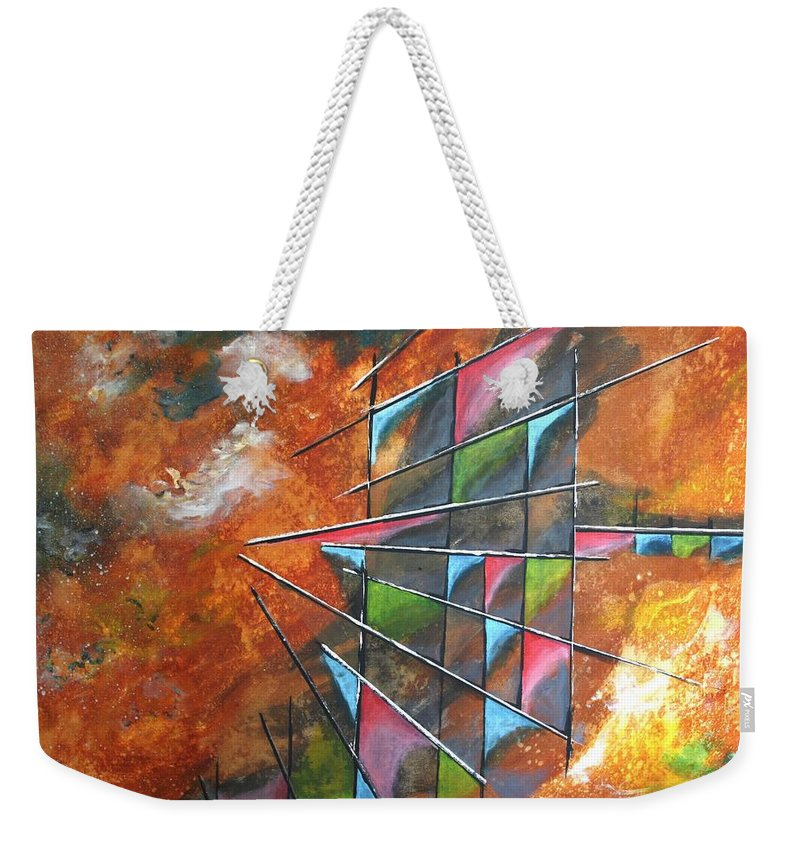 Vifer Weekender Tote Bag featuring the painting In Space by Vitor Fernandes VIFER