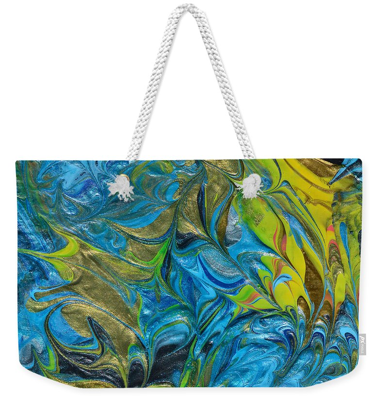 Modern Weekender Tote Bag featuring the painting In The Face Of Adversity by Donna Blackhall