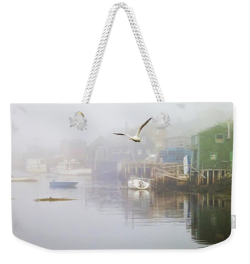 Fog Weekender Tote Bag featuring the photograph In The Fog by Tatiana Travelways