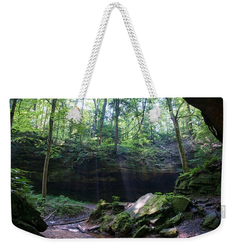 Light Weekender Tote Bag featuring the photograph In The Garden Of The Rocks by David Arment