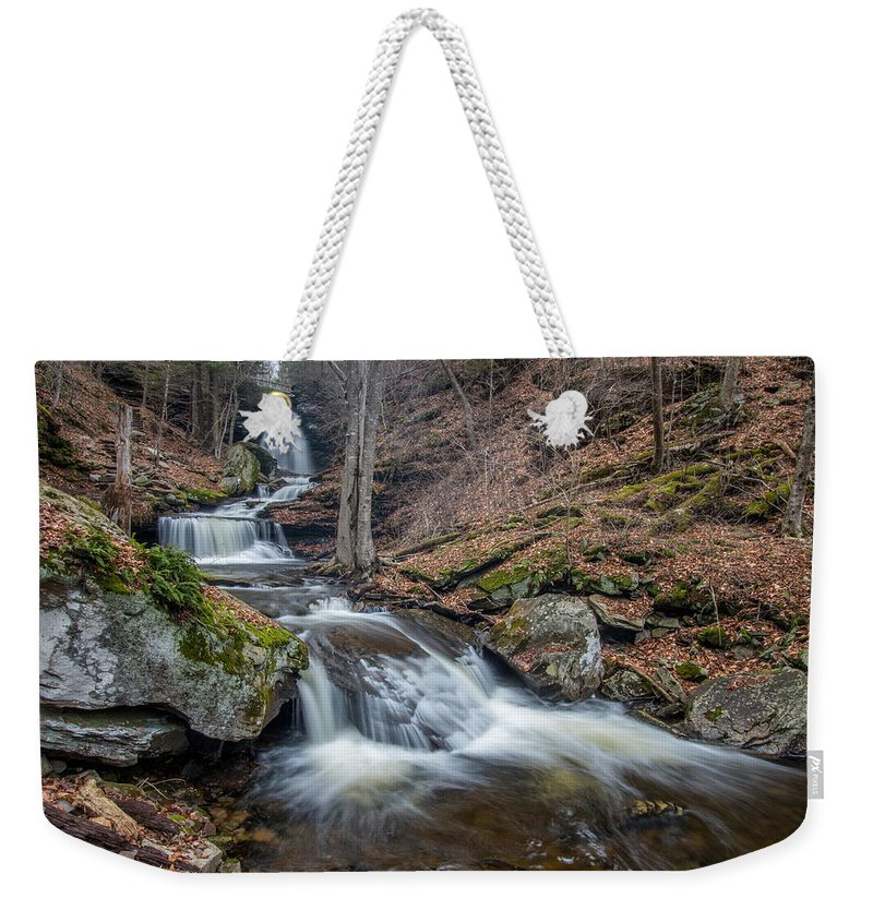 Ricketts Glen Weekender Tote Bag featuring the photograph In The Glen by Todd Wilkinson