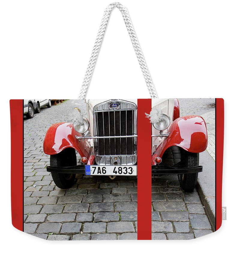 Auto Weekender Tote Bag featuring the photograph In The Good Old Days by Madeline Ellis