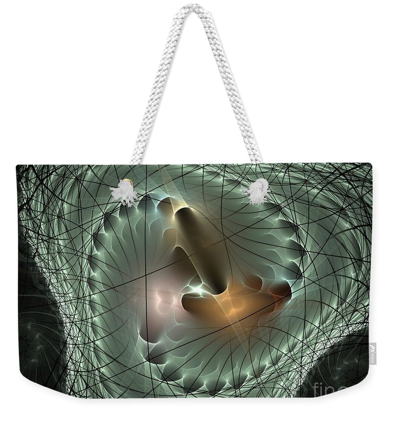 Apophysis Weekender Tote Bag featuring the digital art In The Mesh by Deborah Benoit