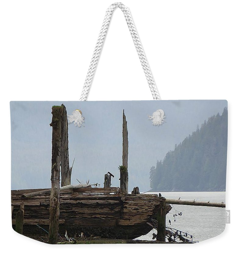 Wreckage Weekender Tote Bag featuring the photograph In The Mist by Kathleen Voort