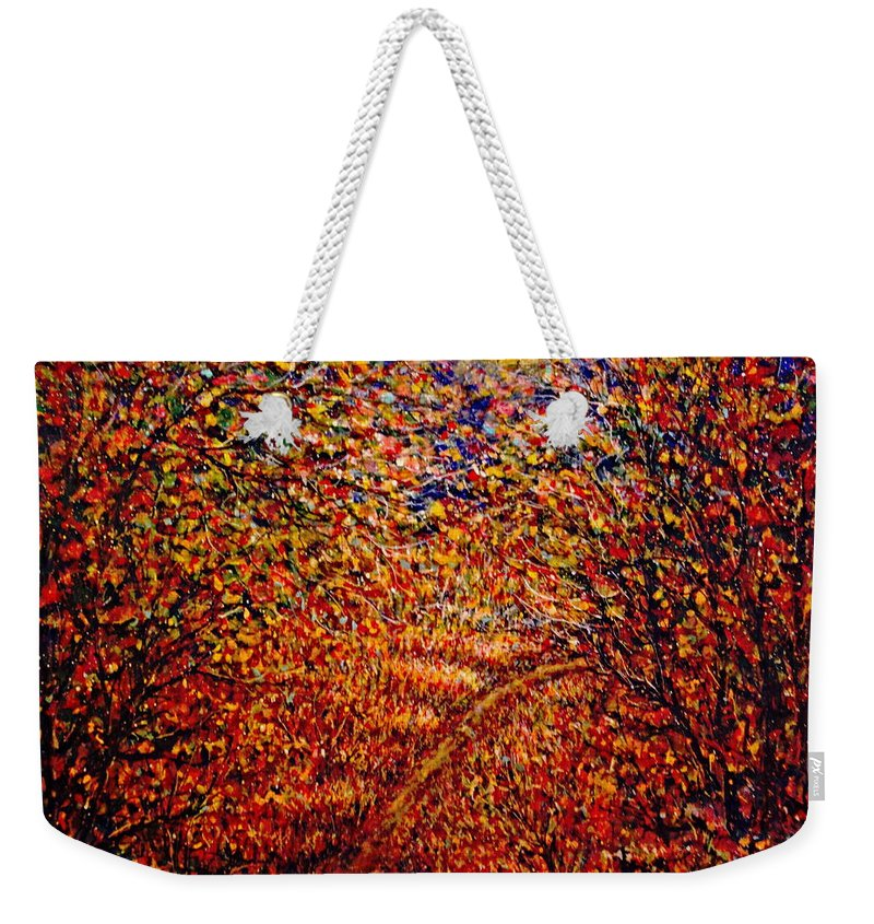 Landscape Weekender Tote Bag featuring the painting In The Moonlight by Natalie Holland