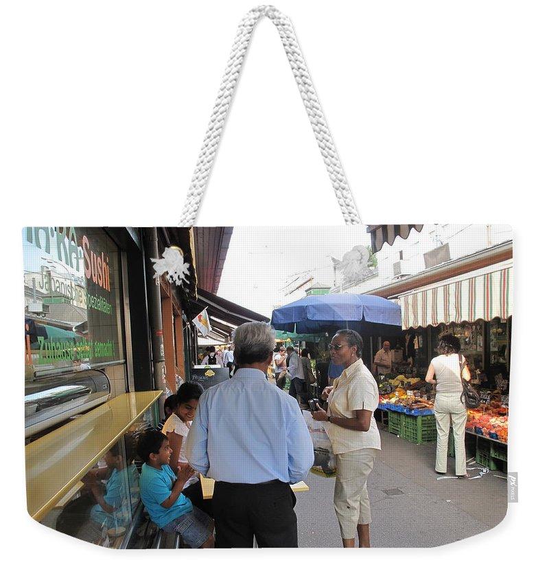 Naschmarkt Weekender Tote Bag featuring the photograph In The Naschmarkt Vienna by Ian MacDonald