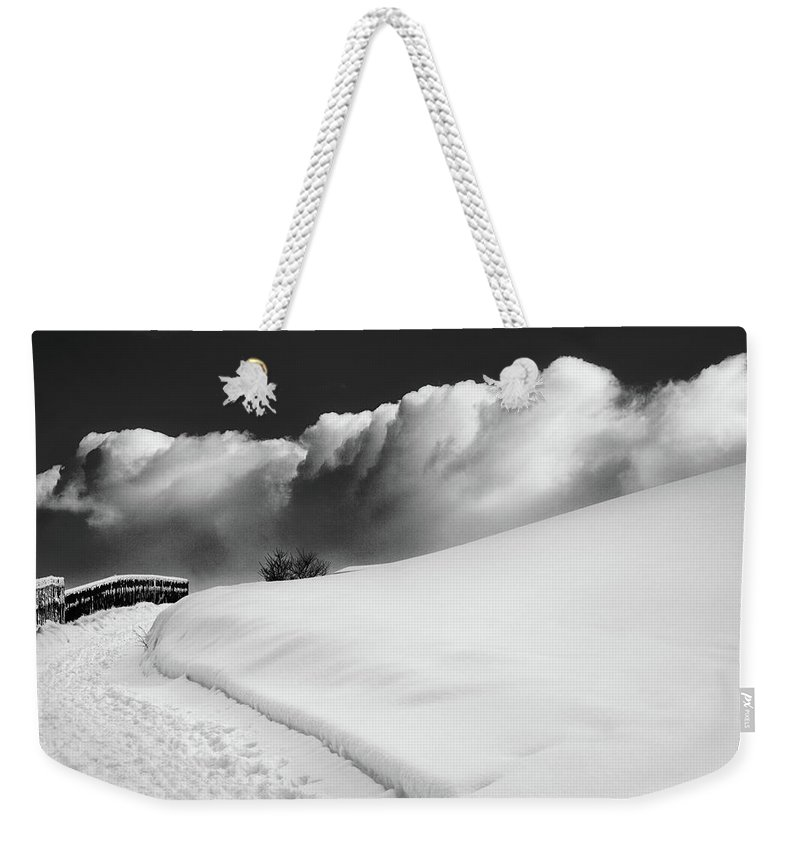Bw Weekender Tote Bag featuring the photograph in the Ore Mountains by Dorit Fuhg