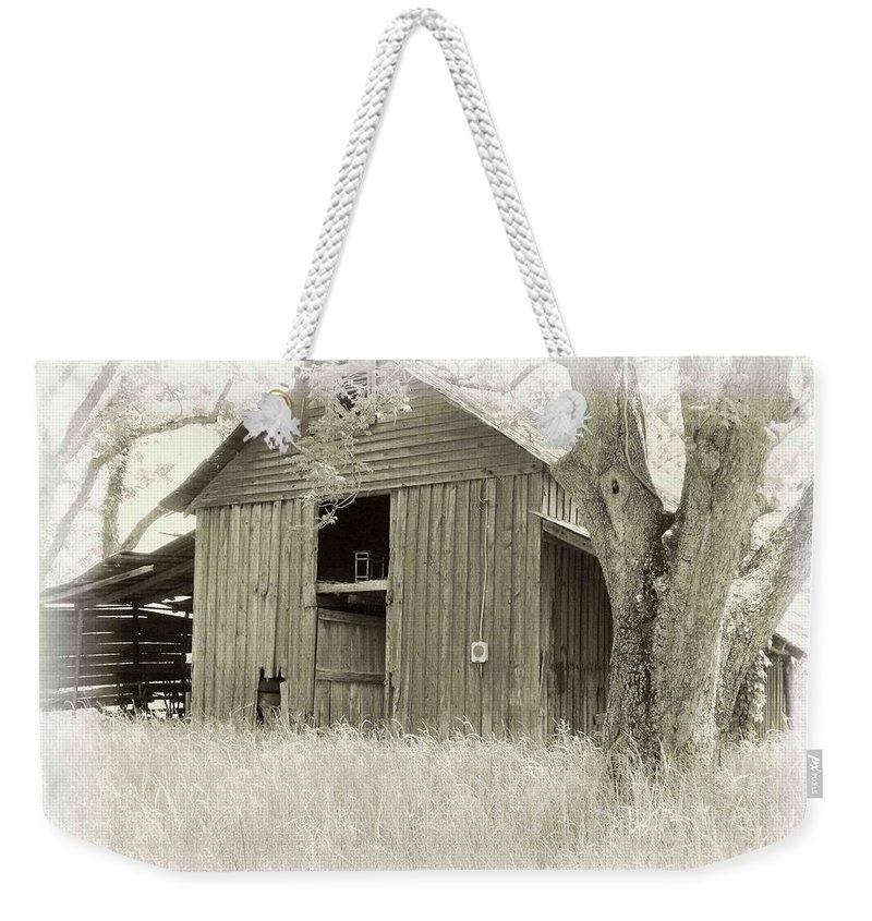 Barn Weekender Tote Bag featuring the photograph In The Pecan Orchard by Nelson Strong