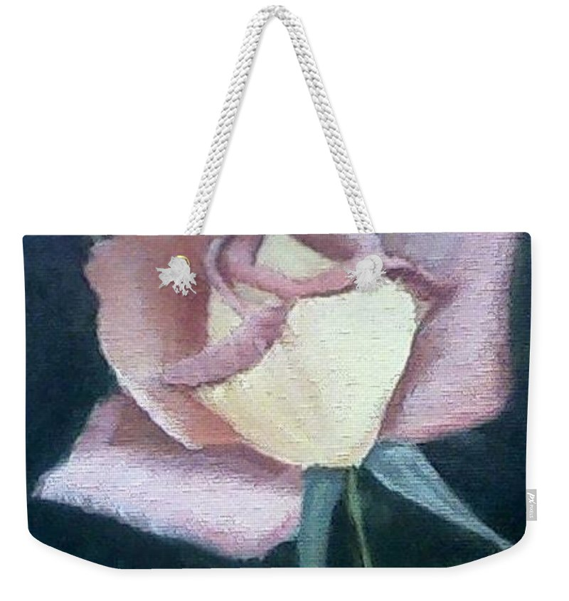 Roses Weekender Tote Bag featuring the painting In The Pink by Joanne Dour