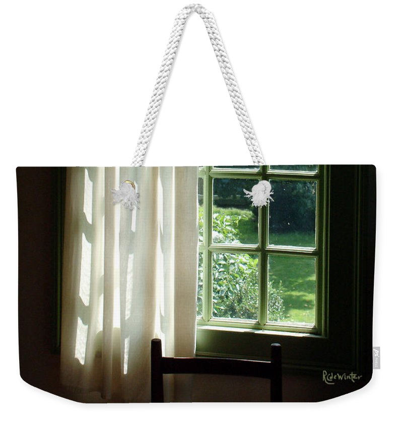 Window Weekender Tote Bag featuring the photograph In The Quiet Of The Afternoon by RC DeWinter