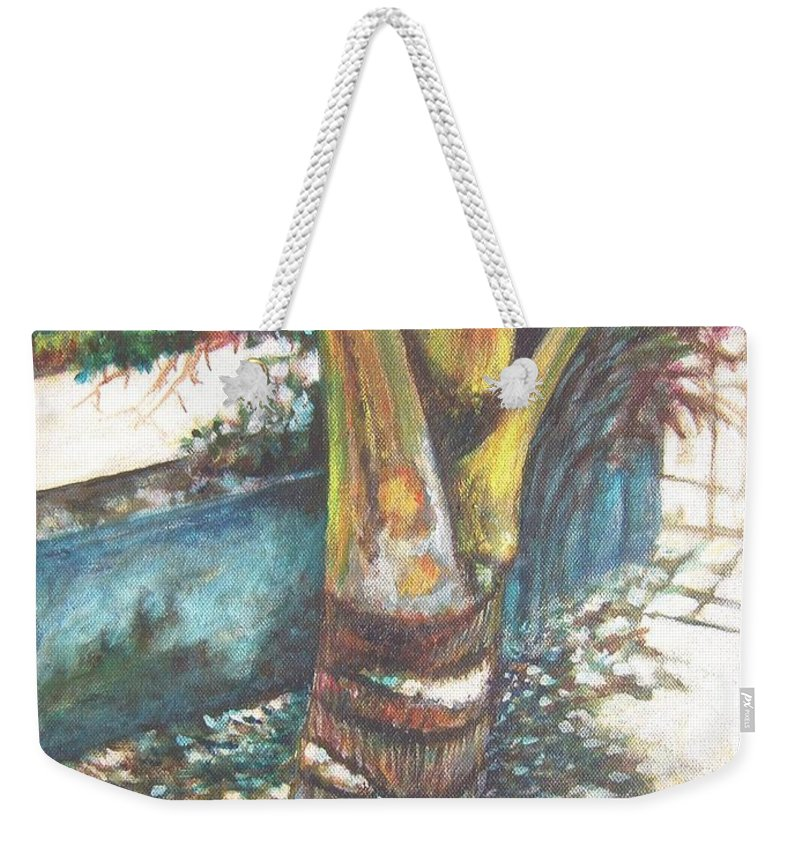 Shade Weekender Tote Bag featuring the painting In The Shade by Usha Shantharam