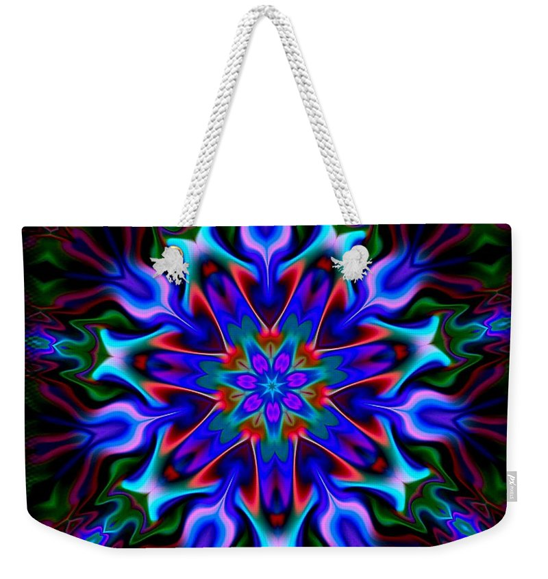 Blue Weekender Tote Bag featuring the digital art In The Spirit Of Things by Robert Orinski