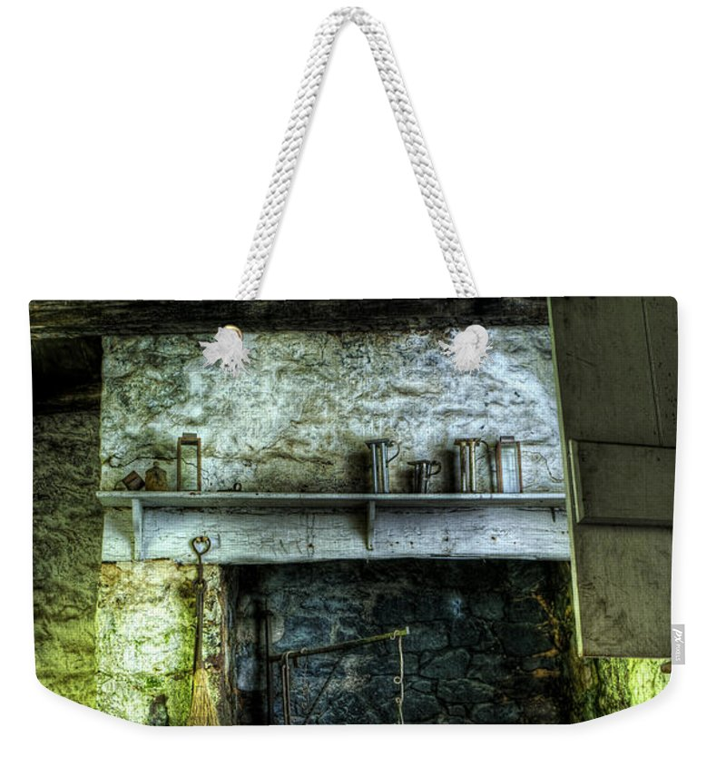 Farm Weekender Tote Bag featuring the photograph In The Springhouse by Scott Wyatt