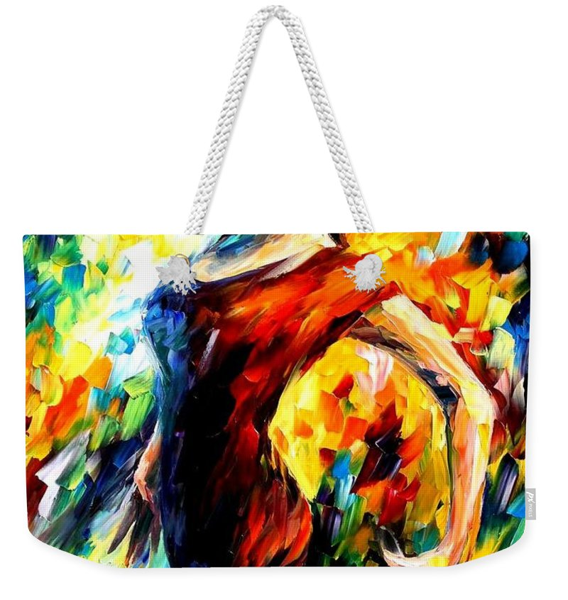 Afremov Weekender Tote Bag featuring the painting In The Style Of Flamenco by Leonid Afremov