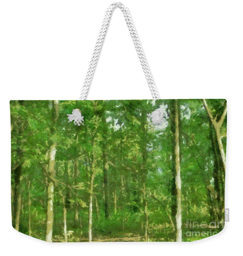 Photograph Weekender Tote Bag featuring the painting In The Thick Of Things by Paulette B Wright