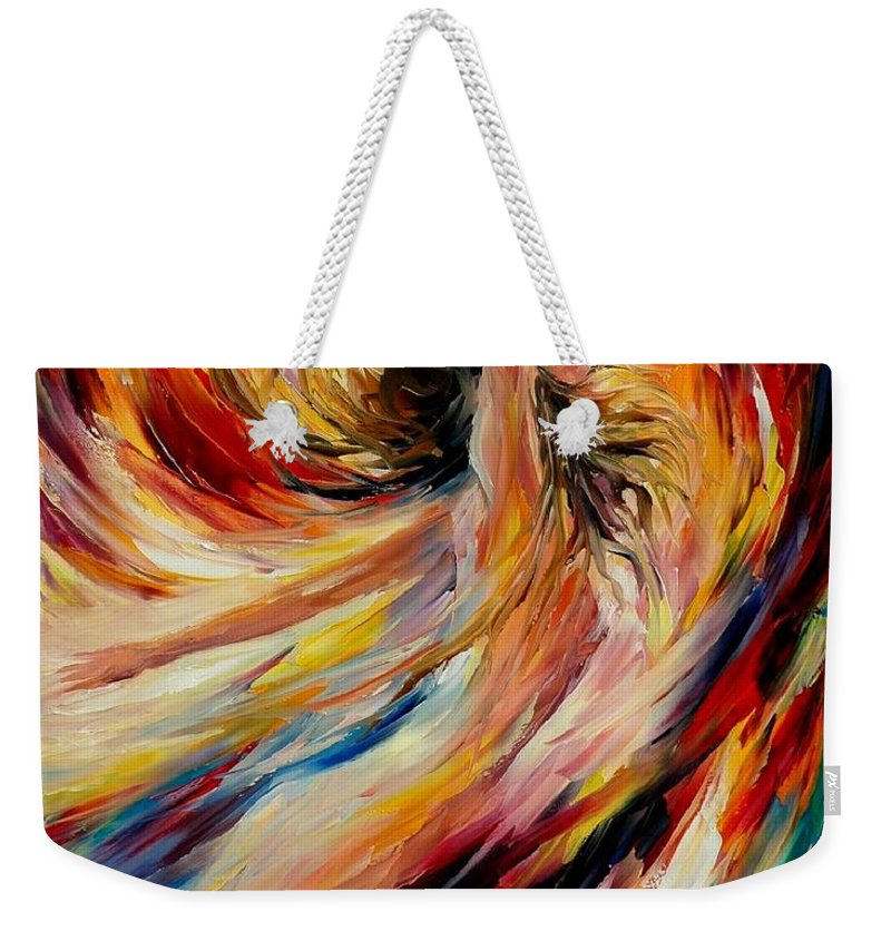 Nude Weekender Tote Bag featuring the painting In The Vortex Of Passion by Leonid Afremov