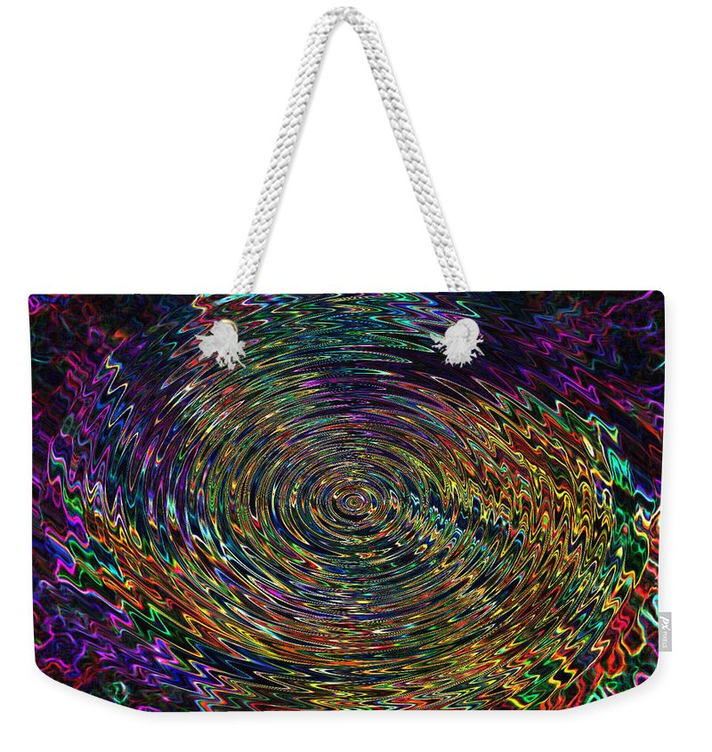 Abstract Weekender Tote Bag featuring the digital art In The Whirl Of Light by Iliyan Bozhanov