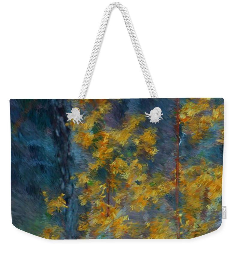 Weekender Tote Bag featuring the photograph In The Woods by David Lane