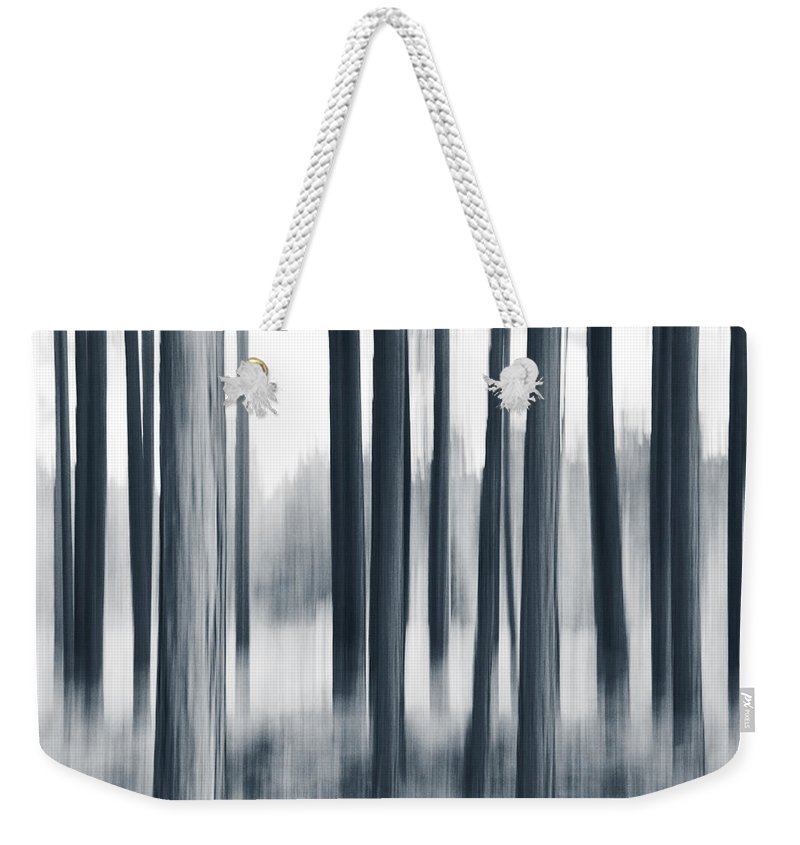 Panning Weekender Tote Bag featuring the photograph In The Woods by Dorit Fuhg