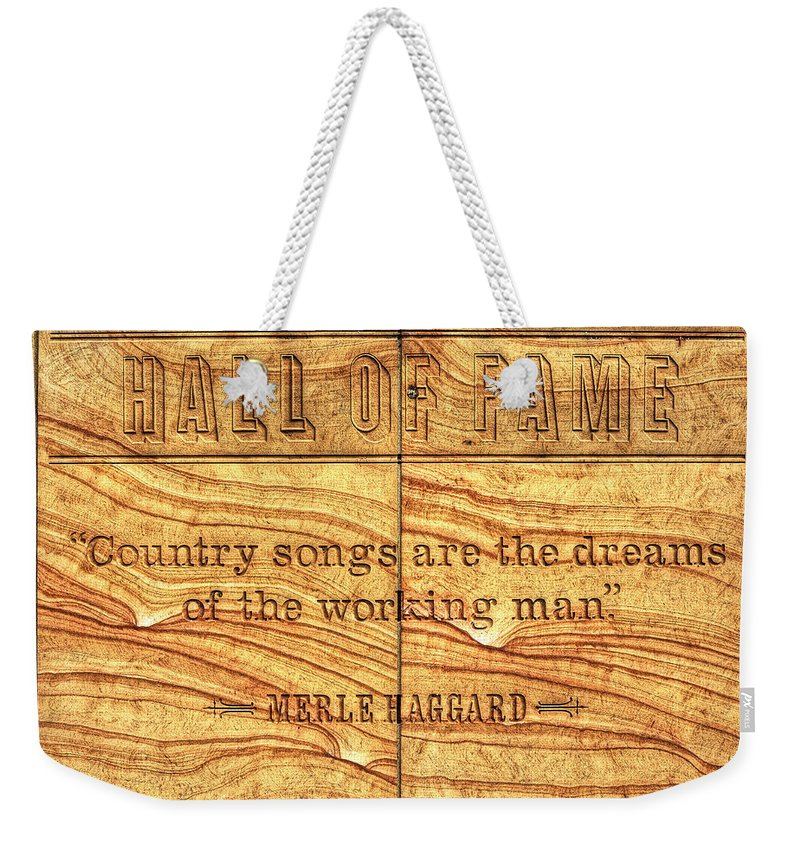 Hall Of Fame Weekender Tote Bag featuring the photograph In The Words Of The Immortal... by Darin Williams