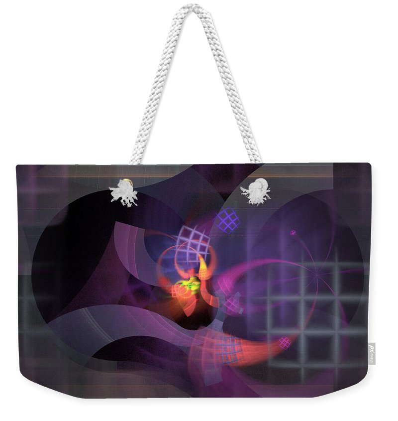 Graceful Weekender Tote Bag featuring the digital art In The Year Of The Tiger - Fractal Art by Nirvana Blues