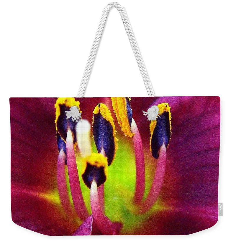 Floral Weekender Tote Bag featuring the photograph In Vein by Marla McFall
