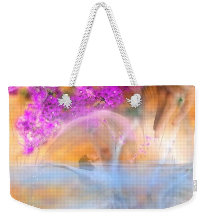 Femme Weekender Tote Bag featuring the mixed media In Waiting For The Spring by Freddy Kirsheh
