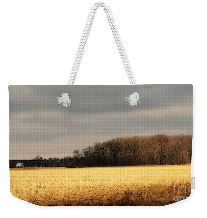 Corn Weekender Tote Bag featuring the photograph In Yonder Timber by Michelle Hastings