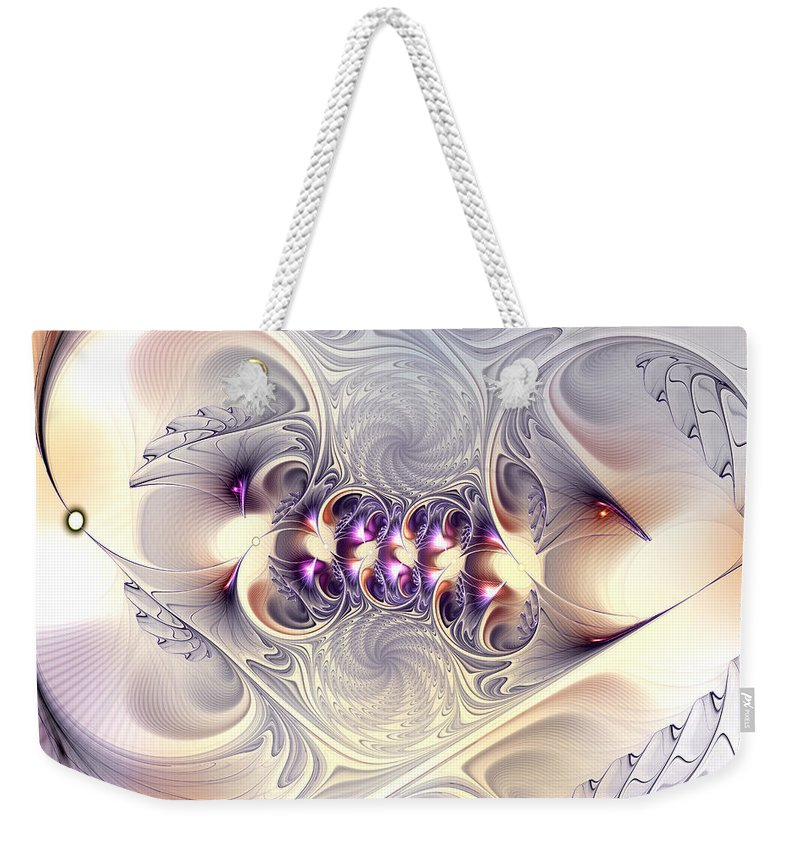 Abstract Weekender Tote Bag featuring the digital art Incandescent Reminiscences by Casey Kotas