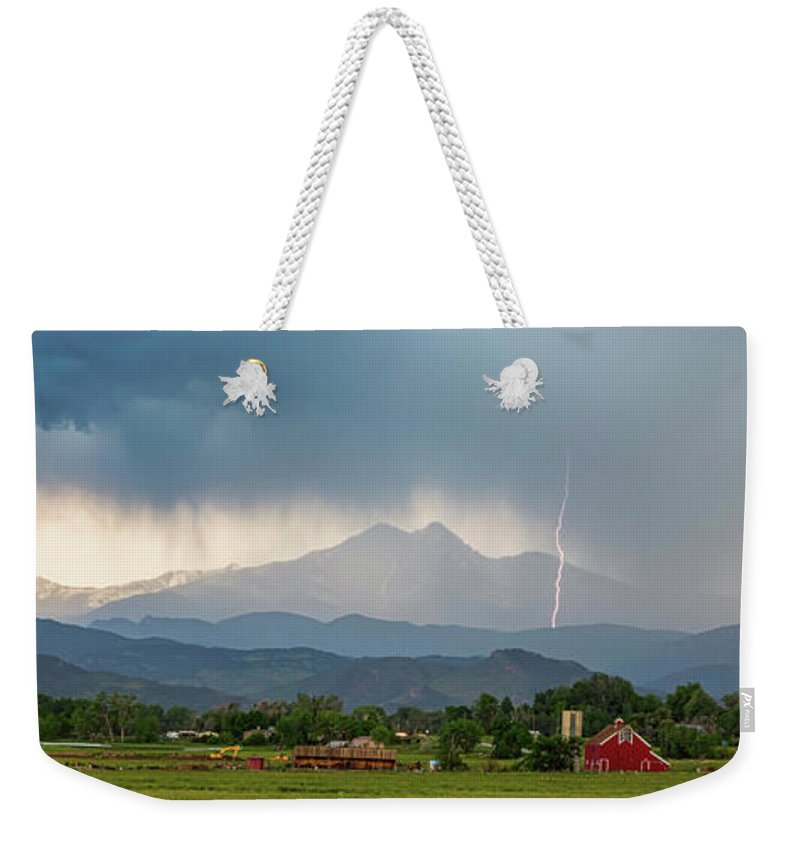 Severe Weekender Tote Bag featuring the photograph Incoming Storm Panorama View by James BO Insogna