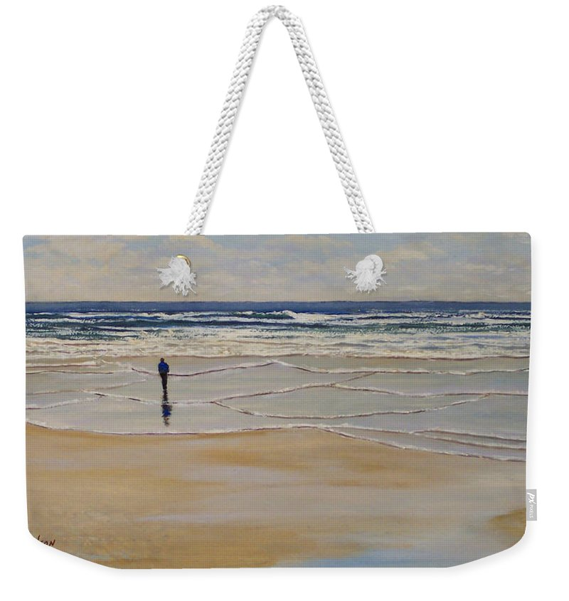 Beach Walk Weekender Tote Bag featuring the painting Incoming Tide by Frank Wilson