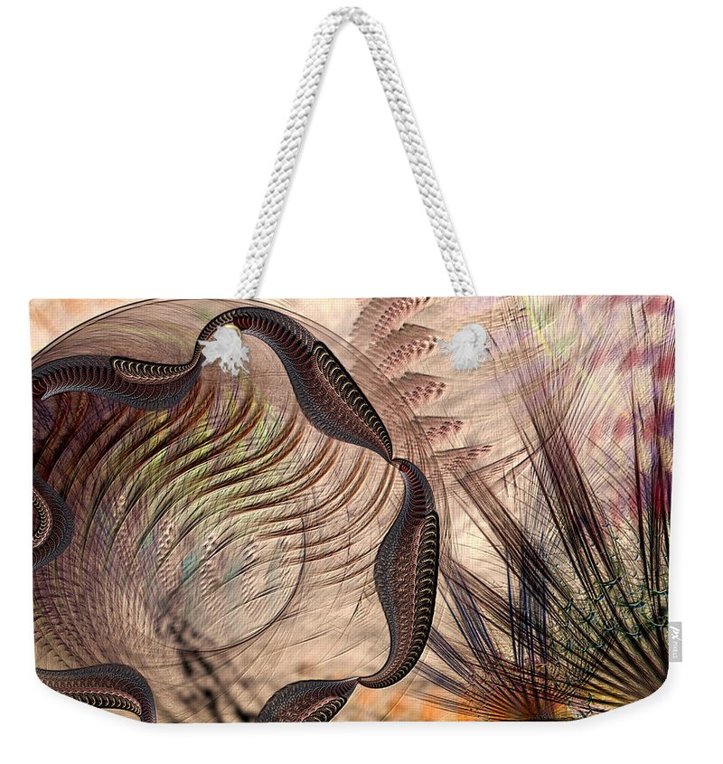 Abstract Weekender Tote Bag featuring the digital art Incomprehension by Casey Kotas