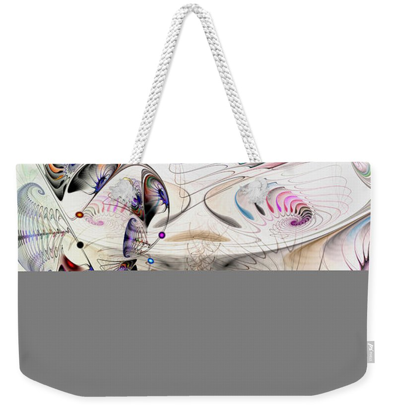 Abstract Weekender Tote Bag featuring the digital art Inconceivable by Casey Kotas
