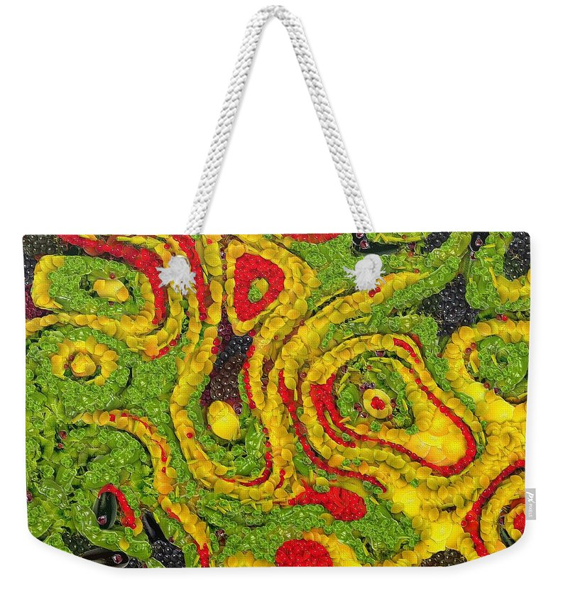 Abstract Weekender Tote Bag featuring the painting Incubus by Dragica Micki Fortuna
