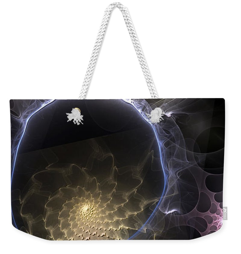 Abstract Weekender Tote Bag featuring the digital art Indefinable Expressions by Casey Kotas
