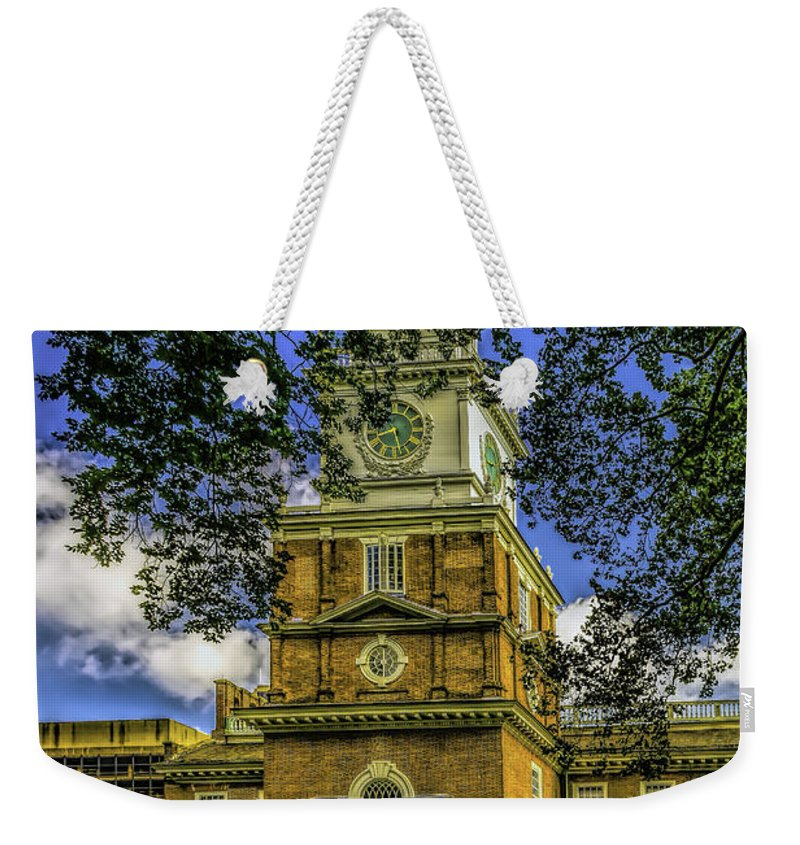 Independence Weekender Tote Bag featuring the photograph Independence Hall-philadelphia by Nick Zelinsky