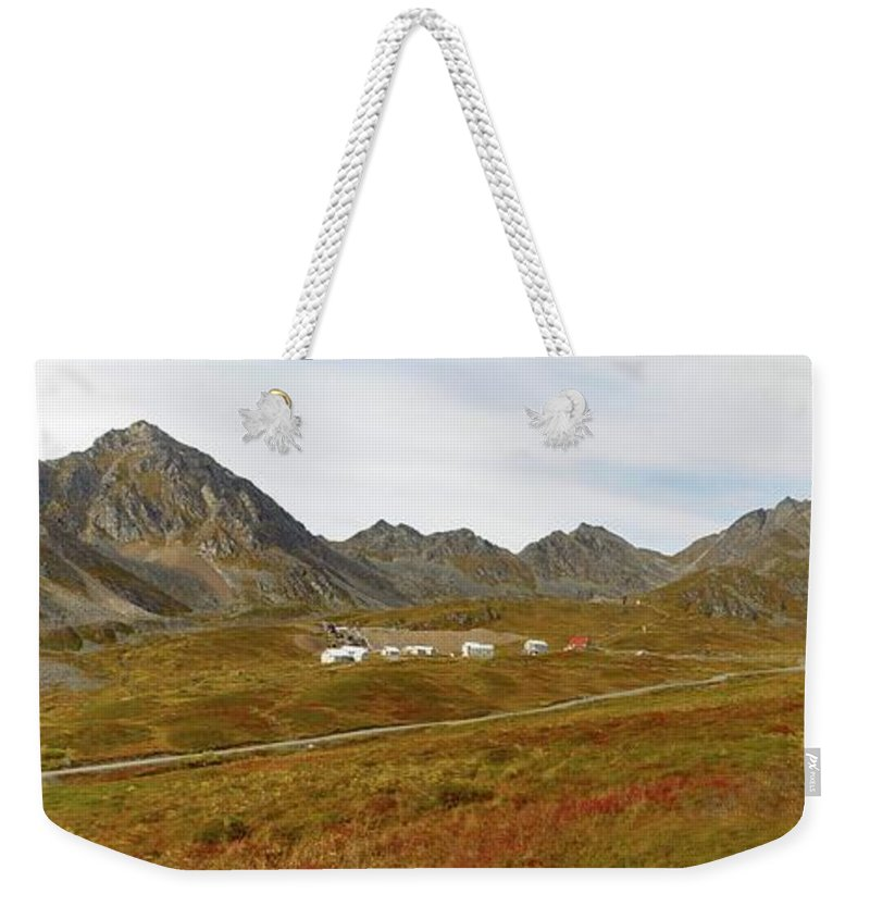Mine Weekender Tote Bag featuring the photograph Independence Mine by Ron Bissett