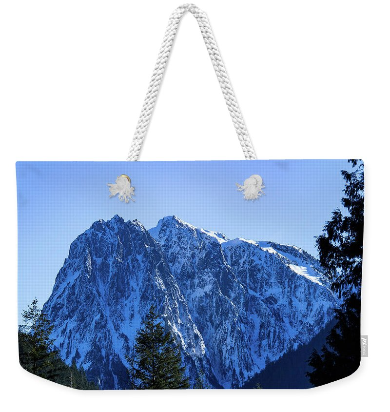 Mountain Weekender Tote Bag featuring the photograph Index Mountain by Roger Patterson