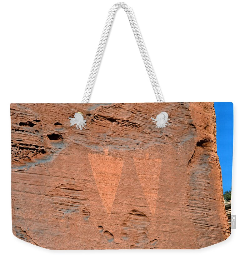 Petroglyphs Weekender Tote Bag featuring the photograph Indian Creek Watchers by David Lee Thompson