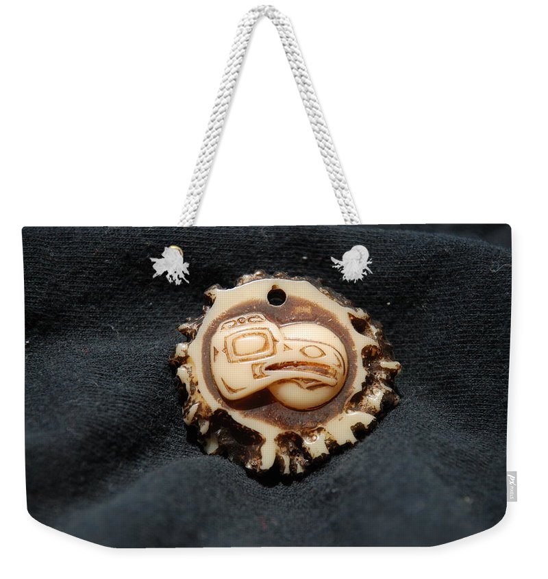 Indian Art Weekender Tote Bag featuring the photograph Indian Eagle Head by Rob Hans