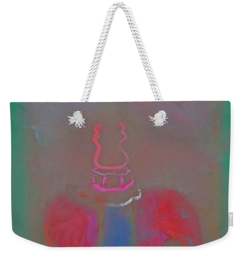 Elephant Weekender Tote Bag featuring the painting Indian Elephant 2 by Charles Stuart