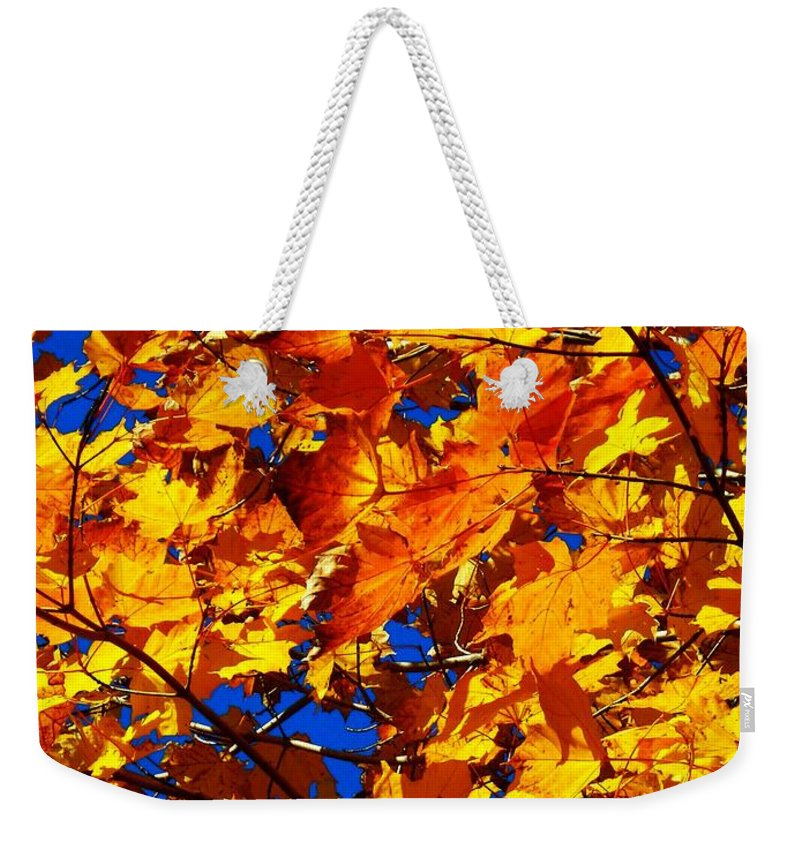 North America Weekender Tote Bag featuring the photograph Indian Summer ... by Juergen Weiss