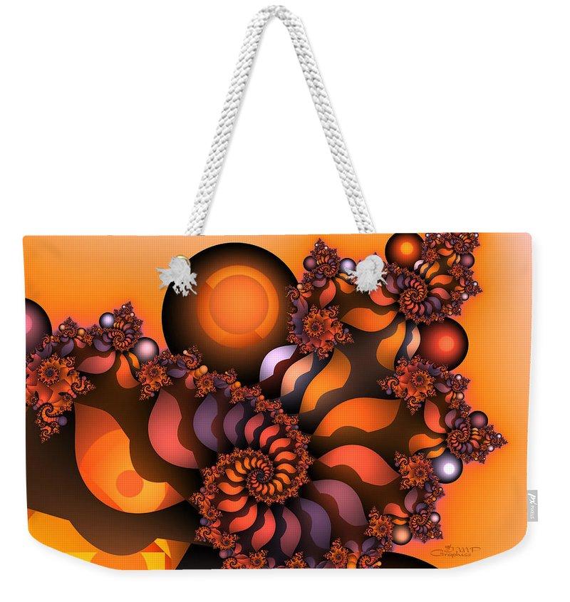 Fractal Weekender Tote Bag featuring the digital art Indian Summer by Jutta Maria Pusl