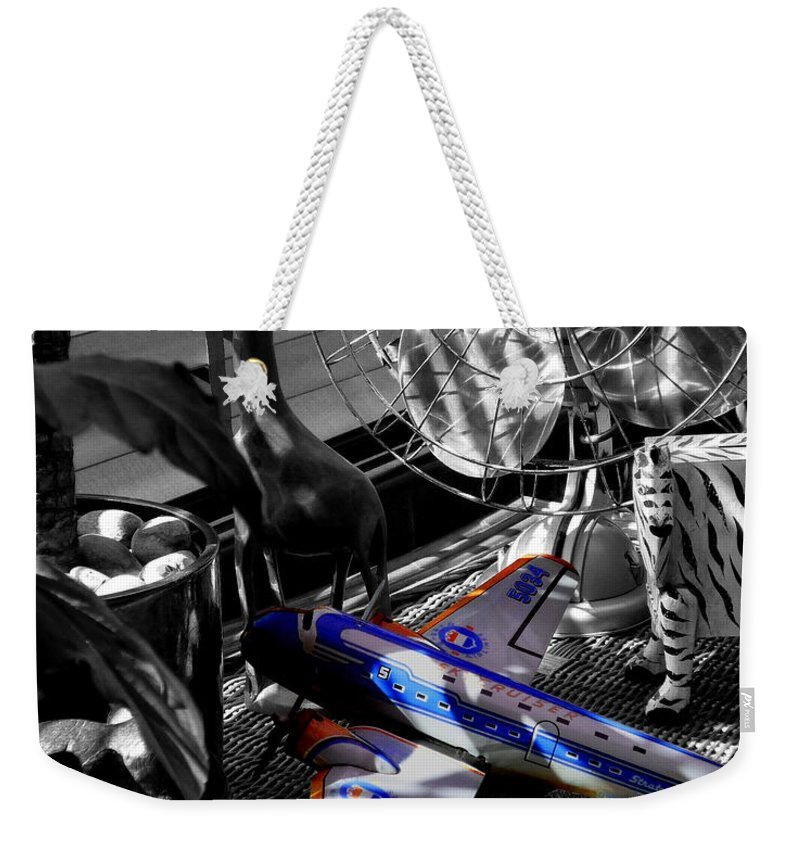 Fan Weekender Tote Bag featuring the photograph Indiana Jones And The Jungle Dream by Charles Stuart