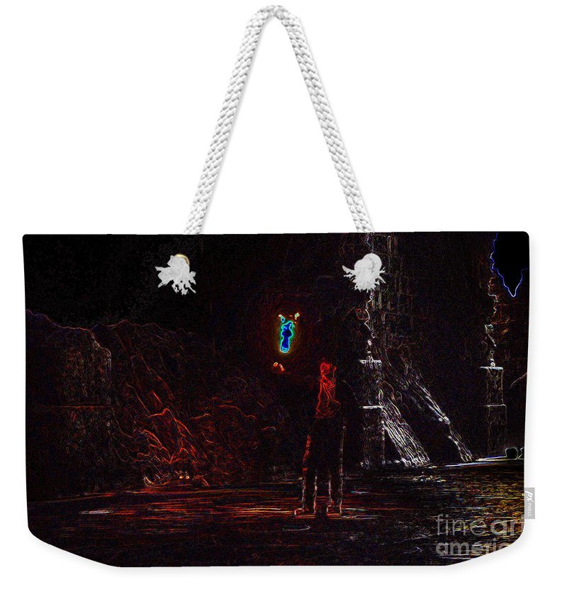 Art Weekender Tote Bag featuring the painting Indiana Jones Five by David Lee Thompson