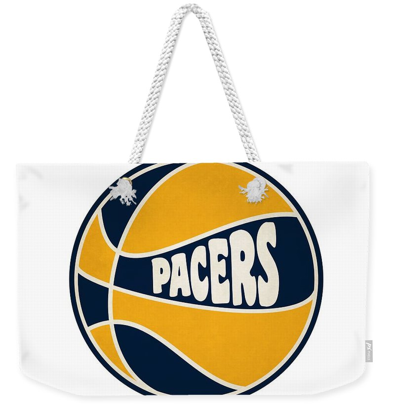 Pacers Weekender Tote Bag featuring the photograph Indiana Pacers Retro Shirt by Joe Hamilton