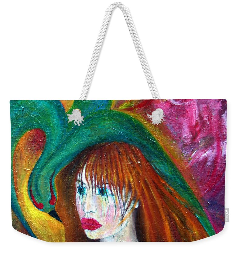 Imagination Weekender Tote Bag featuring the painting Indifference by Wojtek Kowalski